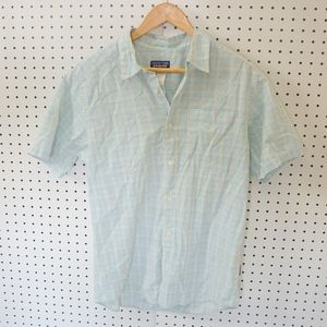 Patagonia Checked Blue Button Down